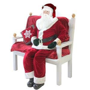 Northlight Life-Size Decorative Plush Standing Santa Claus - 6-ft