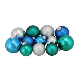 Northlight Glass Ball Christmas Ornaments - 96 Pieces - Blue/Silver