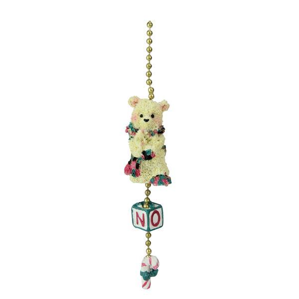 CC Christmas Decor Tartan Bear Christmas Fan Celing Lamp Pulls - Pack of 144