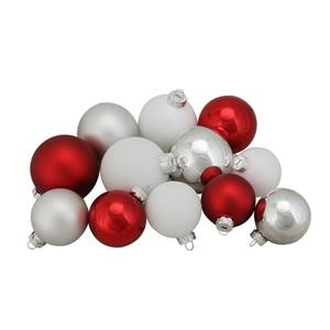 Northlight Glass Ball Christmas Ornaments - 96 Pieces - Multicoloured