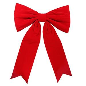 Northlight Commercial Velvet Christmas Bow - Red