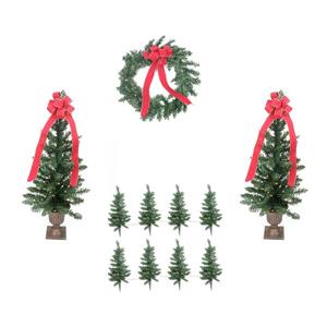 LB International Pre-lit Pine Artificial Outdoor Christmas Entrance Set