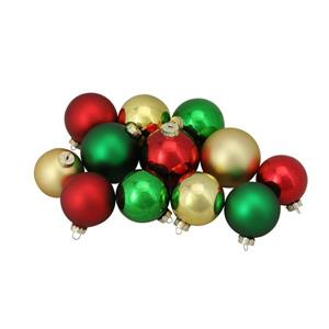 Northlight Glass Ball Christmas Ornaments - 72 Pieces - Multicoloured