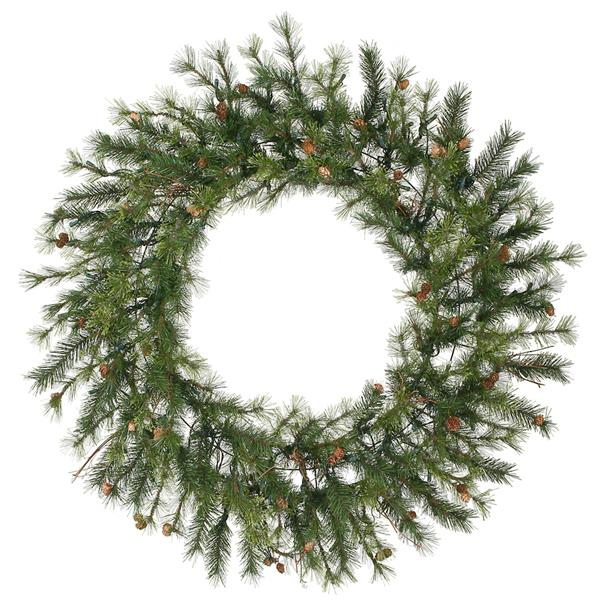 Vickerman Mixed Country Pine Artificial Christmas Wreath - 60-in - Green