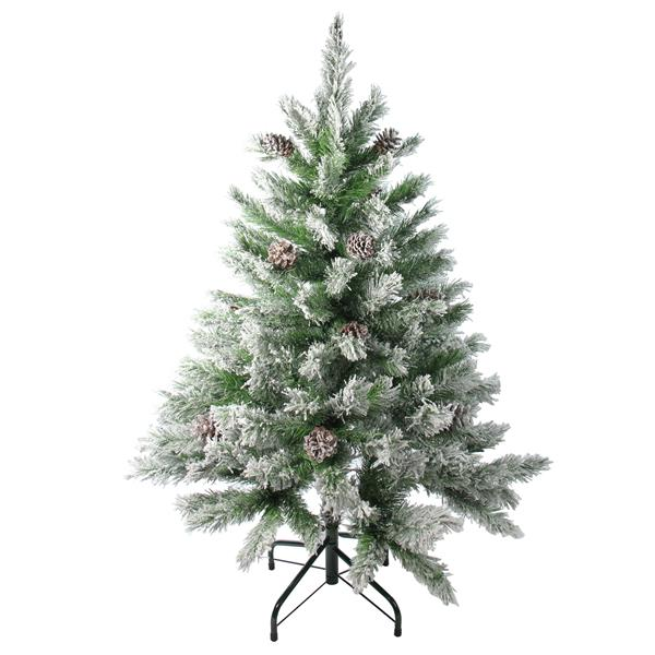 Northlight Flocked Angel Pine Artificial Christmas Tree - 4-ft - Green
