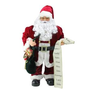 Northlight Animated Standing Santa Claus Musical Christmas Figure - 32-in