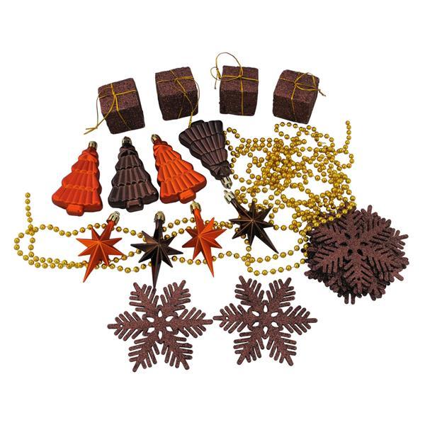 Northlight Christmas Ornament Set - 375 Pieces - Brown/Orange