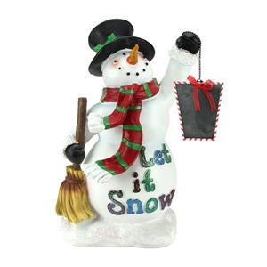 Northlight Snowman with Broom and Blackboard Christmas Countdown Figure