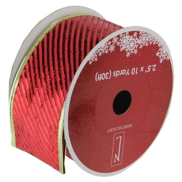 Northlight Striped Christmas Craft Ribbon - 12 pack - Red