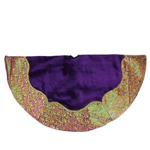 Northlight Christmas Tree Skirt with Border - 48-in - Purple/Gold