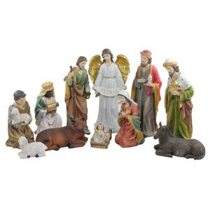 Northlight Traditional Religious Christmas Nativity Set - 11 Pieces