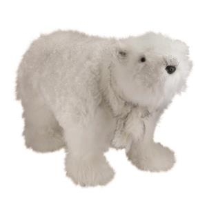 Northlight Sparkling White Polar Bear with Scarf Christmas Figure Decor