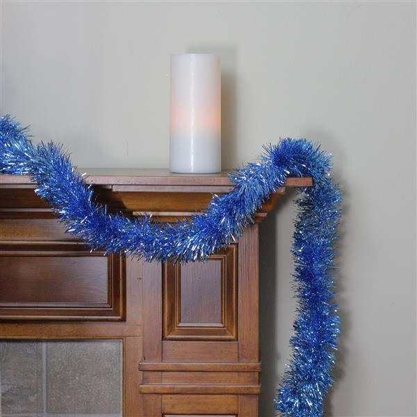 Northlight Traditional Tinsel Garland - 50' - Shiny Blue