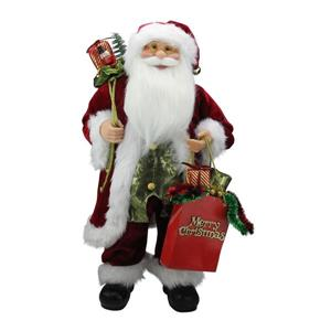 NorthlightSanta Claus Figure with -inMerry Christmas-in Gift Bag - 24-in