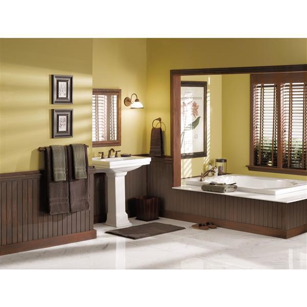 Robinet de salle de bain Moen Brantford, deux poignées, bronze huilé