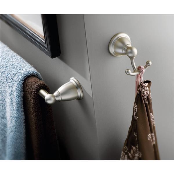 Moen Brantford Double Robe Hook - Brushed Nickel