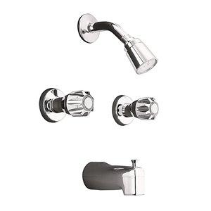 Robinet de baignoire et douche standard MOEN II, chrome