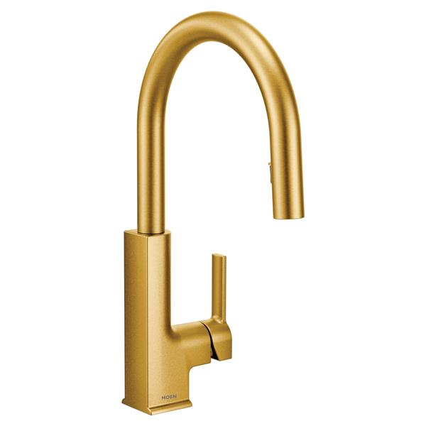 Moen STO Kitchen Faucet - One-Handle Pulldown - Brushed Gold