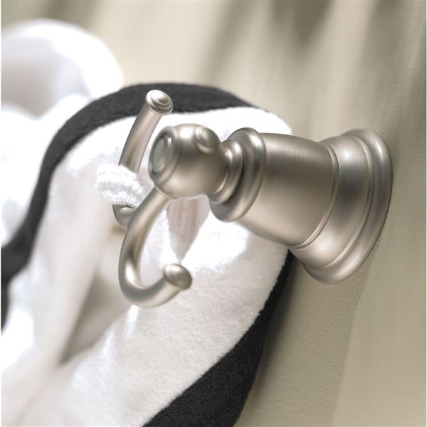 Moen Kingsley  Double Robe Hook - Brushed Nickel