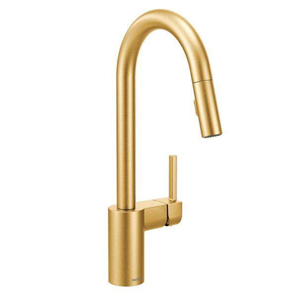 Moen Align Kitchen Faucet - One-Handle Pulldown- Brushed Gold