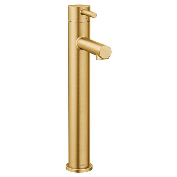 moen align bathroom faucet one handle brushed gold