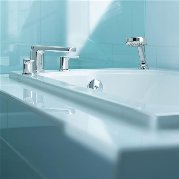 Moen Rizon Roman Tub Faucet With Hand Shower - Two-Handle - Chrome (Valve Sold Separately)