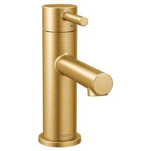 Robinet de salle de bain Moen Align, une poignée, or brossé
