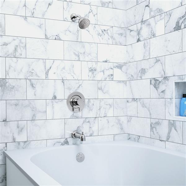 Robinet de baignoire et douche Moen Vichy Posi-Temp , chrome (valve vendue séparément)