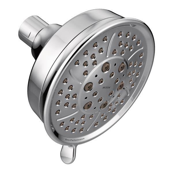 Moen Eco-Performance 4-3/8-in Diameter Showerhead - Four Functions - Chrome