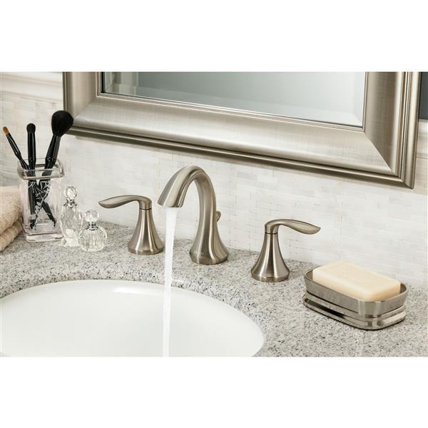 Moen EVA Bathroom Faucet - Two-Handle - Brushed Nickel (Valve Sold Separately)