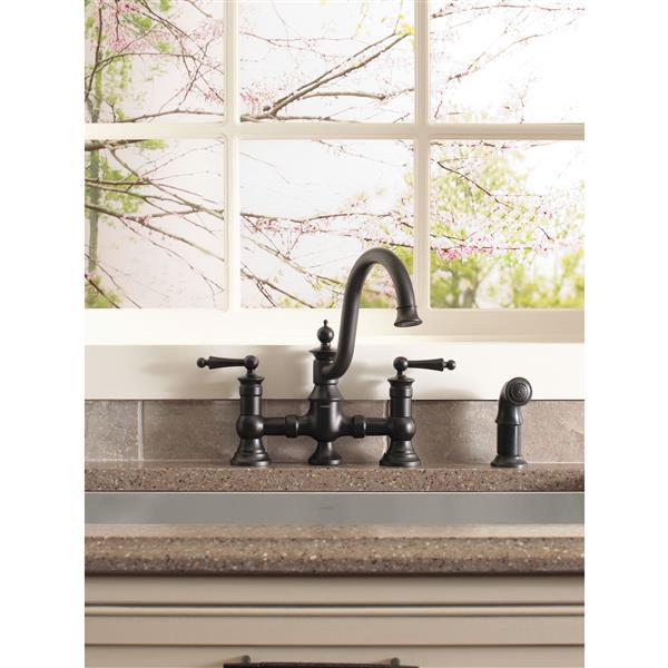 Moen Waterhill Kitchen Faucet - Two-Handle  - Wrought Iron