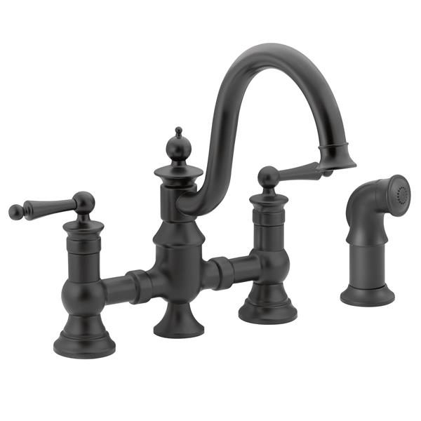 Moen Moen Waterhill Kitchen Faucet - Two-Handle  - Wrought Iron S713WR (ON-330697080) photo