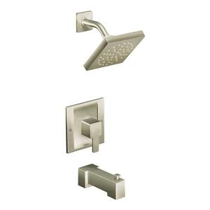 Moen 90 Degree Bathtub and Shower Valve Trim Set - PosiTemp Technology - 1-Handle - Brushed Nickel