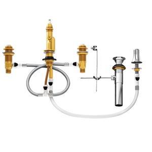Raccord IPS pour valve de bidet Moen, 1/2 po, installation centrée