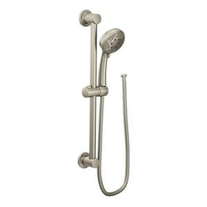 Moen Eco-Performance Hand Shower - 4-Function Jet - 24-in Slide Bar - Brushed Nickel