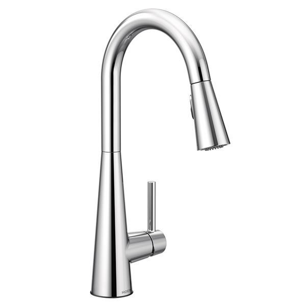 Moen Moen Sleek Collection Pulldown Kitchen Faucet - Chrome 7864 (ON-330698122) photo