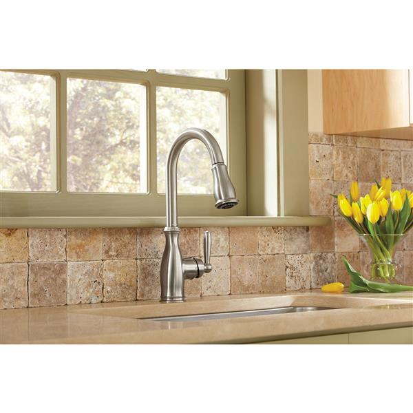 Moen Brantford Collection Pulldown Kitchen Faucet - Stainless Steel