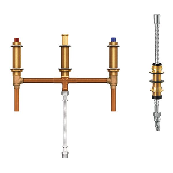 Moen Valve System for Roman Bathtub - with Diverter - 10-in Center - 0.5-in CC Connection