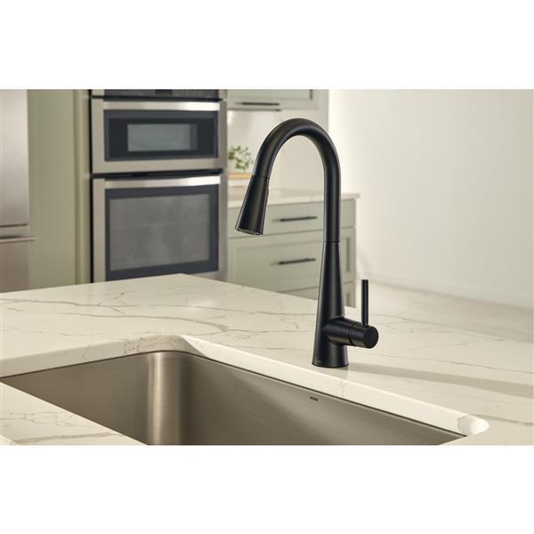 Moen Sleek Collection Pulldown Kitchen Faucet - Matte Black