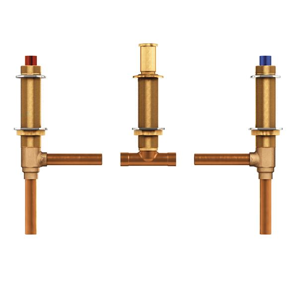 Moen Valve System for Roman Bathtub - 10-in Center - Adjustable 0.5-in CC Connection