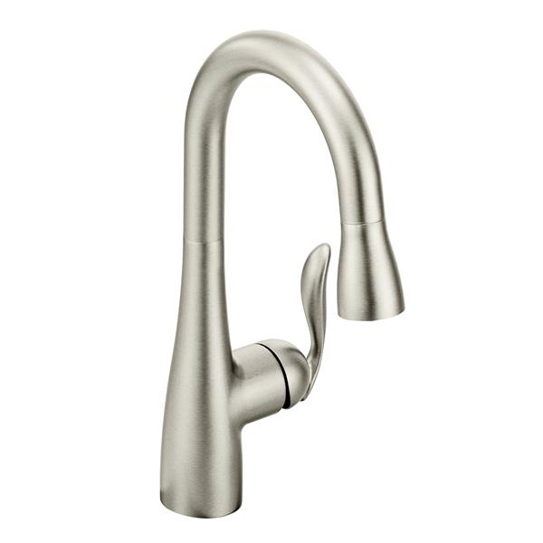 Moen Arbor Collection Pulldown Bar Faucet - Stainless Steel
