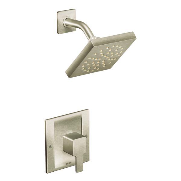 Moen 90 Degree Shower Valve Trim Set - 1-Handle - PosiTemp Technology - Brushed Nickel (Valve Sold Separately)