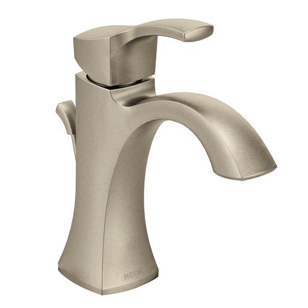 Moen Robinet de salle de bains Voss de Moen, 1 poignée, nickel brossé 6903BN (QC-330698177) photo