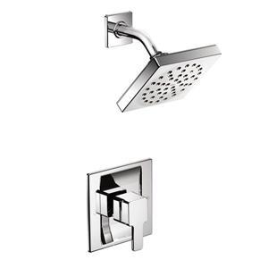 Garniture de robinetterie pour douche 90 Degree de Moen, 1 poignée, chrome (valve vendue séparément)