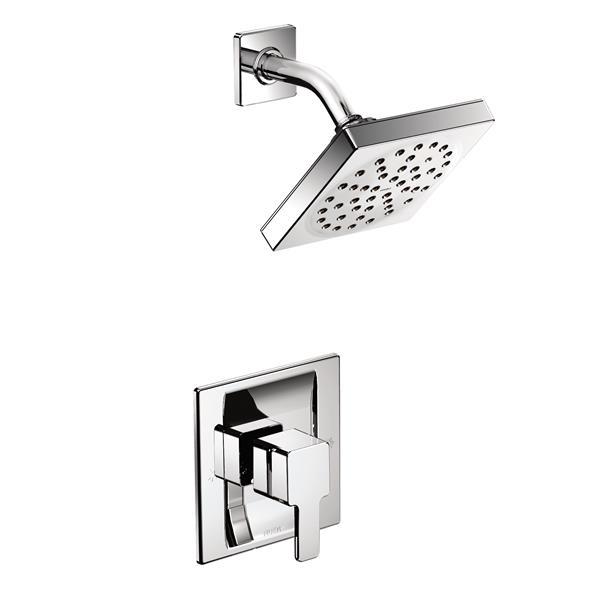 Moen 90 Degree Shower Valve Trim Set - 1-Handle - PosiTemp Technology - Chrome (Valve Sold Separately)