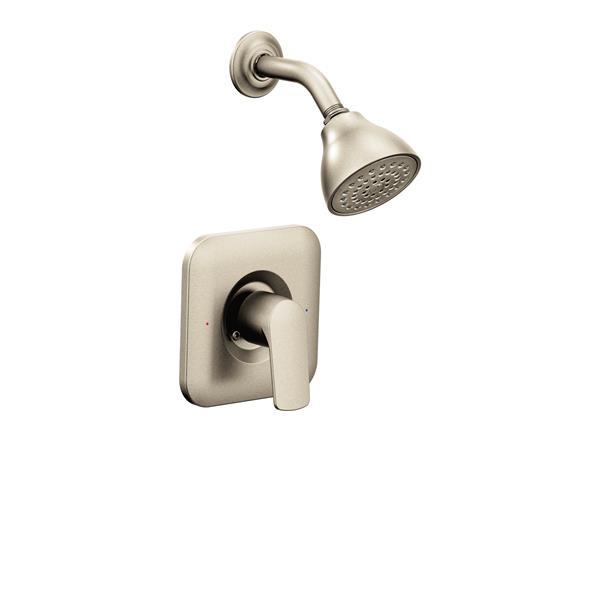 Garniture de robinetterie pour douche Rizon de Moen, nickel brossé