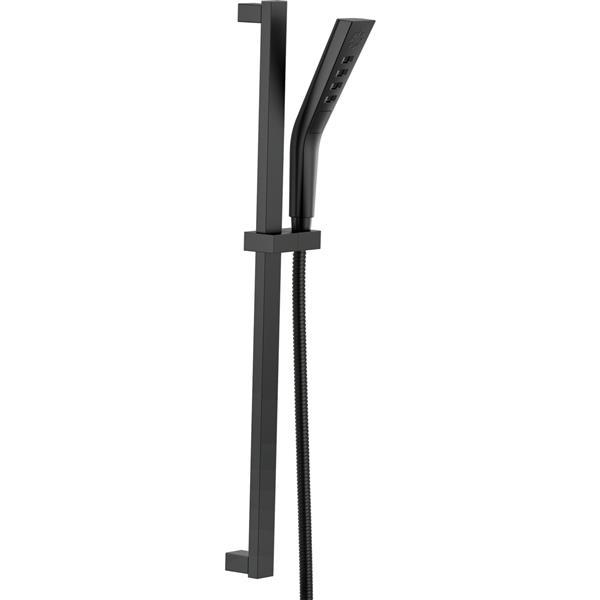 Douchette sur barre à glissière à 3réglages H2Okinetic(MD) de Delta, noir mat