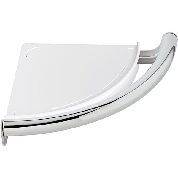 Delta Contemporary Corner Shelf/Assist Bar - Chrome