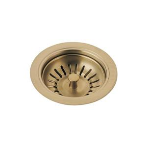 Delta Kitchen Sink Flange and Strainer - Champagne Bronze