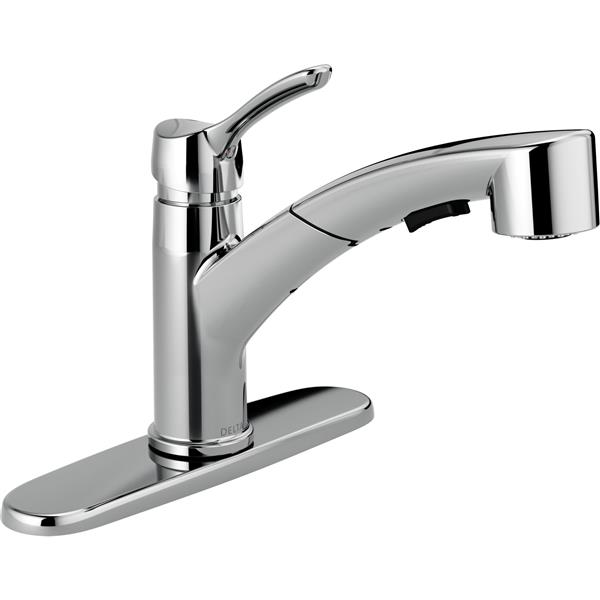 Delta Collins Pull-Out Kitchen Faucet - Chrome
